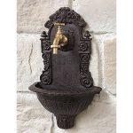 Style Ancienne Fontaine Fonte Marron Robinet Laiton Jardin Murale 40 cm de la marque chemin_de_campagne image 1 produit