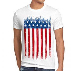 style3 USA Drapeau National T-Shirt Homme états-Unis d amérique us stars stripes de la marque style3 image 0 produit