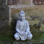 Superbe Bouddha en pierre massive/béton, résistant au gel, gris, 52 cm de la marque gartendekoparadies.de image 1 produit