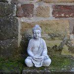 Superbe Bouddha en pierre massive/béton, résistant au gel, gris, 52 cm de la marque gartendekoparadies.de image 2 produit