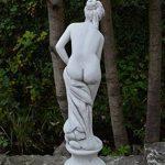 Superbe statue sur piédestal de Vénus se baignant, en béton coulé, résiste au gel de la marque gartendekoparadies.de image 2 produit