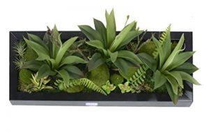 Support mural 3D Fleurs Artificielles Succulente plantes mousse sur la pierre feuilles vert herbe Fougères avec cadre forme vase Décoration Murale, 20x 55cm de la marque Artificial Flower-Wall Hanger image 0 produit
