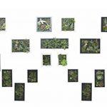 Support mural 3D Fleurs Artificielles Succulente plantes mousse sur le vase avec cadre en bois Forme Fleurs Blanc pierre Décoration, 30x 30cm de la marque Artificial Flower-Wall Hanger image 1 produit