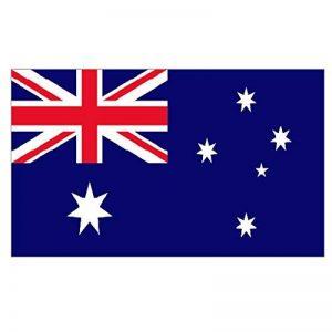Supportershop Drapeau Australie polyester avec 2 œillets metalliques - 150 x 90 cm de la marque Supportershop image 0 produit