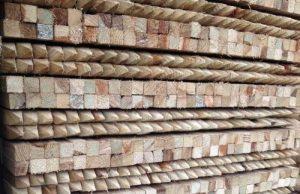 Suregreen Lot de 50x 1.35m Arbre Piquets 32x 32mm carré en bois traité, pointu Jardin poteaux de la marque Suregreen image 0 produit