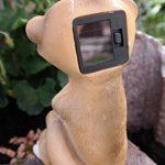 Suricate Avec Yeux Figurine solaire solaire Lanterne solaire jardin figurine de la marque Unbekannt image 2 produit