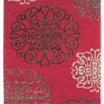 Tapis de salon moquette Carpet modern Design MATRIX TANGIER BLUMEN RUG 100% Wolle 120x170 cm rectangle Rouge | Tapis acheter en ligne pas cher de la marque Kadimadesign image 3 produit