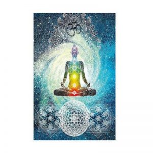 Tapisserie indienne Statue de Bouddha par Wingbind, Mandala Wall Méditation Batik Hippie Om Signe Chakra Tapisserie Dortoir Suspendu Chambre Salon Décorations Bohème Tapisserie Tenture murale Tapisserie Rideau de plage de la marque Wingbind image 0 produit