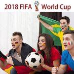 Tatouages de drapeau national, Tatouages temporaires de la Coupe du monde, Autocollants de drapeau de la Russie 2018 autocollants pour la décoration de corps de visage de jeu de football 12 feuilles de la marque Dream Loom image 1 produit