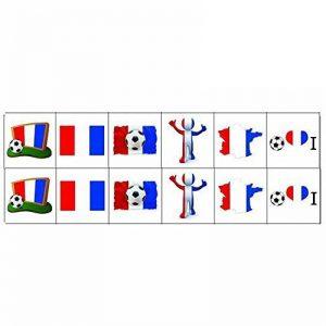 Tatouages de drapeau national, Tatouages temporaires de la Coupe du monde, Autocollants de drapeau de la Russie 2018 autocollants pour la décoration de corps de visage de jeu de football 12 feuilles de la marque Dream Loom image 0 produit