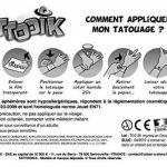 TATTOOIK PIRATES Tatouage ephemere temporaire hypoallergénique Fabriqué en FRANCE.Fille et Garçon 2 planches environ 40 tattoos Enfant de la marque TATTOOIK Marque Française image 2 produit