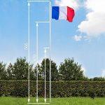 TecTake Mât de drapeau en aluminium 625 cm drapeau et corde inclus - diverses modèles - (France   no. 402618) de la marque TecTake image 5 produit