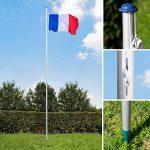 TecTake Mât de drapeau en aluminium 625 cm drapeau et corde inclus - diverses modèles - (France   no. 402618) de la marque TecTake image 2 produit