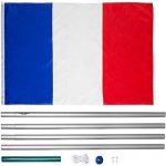 TecTake Mât de drapeau en aluminium 625 cm drapeau et corde inclus - diverses modèles - (France | no. 402618) de la marque TecTake image 3 produit