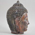 Tête de Bouddha thaï Ornement Medium Marron vintage spirituel extérieur H18cm de la marque Prezents.com image 4 produit