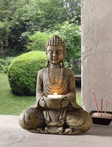 TFH Grande statue de Bouddha Bougeoir Imitation pierre Gris de la marque TFH image 0 produit