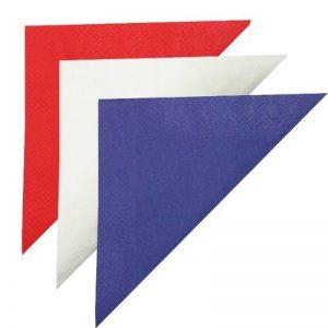 Thali Outlet®–Ensemble de serviettes de 33cm British Garden Party–125x Rouge/125x Bleu/blanc 125x–British Drapeau Couleur (Rouge/blanc/bleu) de la marque Thali Outlet® image 0 produit