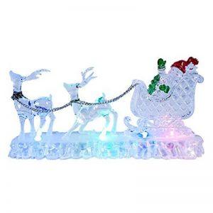 The Christmas Workshop Décoration de Noël Renne avec traîneau en acrylique LED de couleurs variables Fonctionnement à piles de la marque The Christmas Workshop image 0 produit