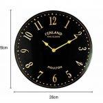 The Garden & Home Co. Horloge Murale Black Stable Noir 28 x 5 x 28 cm 17240 de la marque The Garden & Home Co. image 1 produit