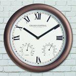 The Garden & Home Co. Horloge Murale Grand Central Station Bronze 30 x 4 x 30 cm 17214 de la marque The Garden & Home Co. image 2 produit