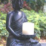 Tiaan 44cm de hauteur bougeoirs votives Statue de Bouddha Bouddha zen Bougeoir chaud pour Home & Garden de la marque TIAAN image 1 produit