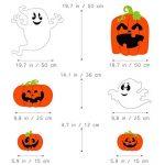Tinksky Halloween Yard signer Ensemble, citrouille Ghost Spooky Jardin Pelouse Sign Drapeau Décoration avec piquet Halloween extérieur accessoire de 6pcs de la marque Tinksky image 1 produit