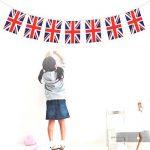 Tinksky Uni Drapeau britannique Bannières Chaîne, 32 drapeaux de pays nationaux Union Jack drapeau fanions Bannière Banderoles Guirlandes pour Supermarché Party Bar Sports Club Décoration de la marque Tinksky image 2 produit
