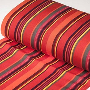 Tissu toile d'extérieur transat - Largeur 43cm - Rayures Biarritz - PAR 50CM de la marque CAREFIL image 0 produit