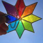 Étoile du vitrail Suncatcher, Art de verre teinté multicolore Sun catcher, Attrape-soleil - Colin Rhodes de la marque Colin Rhodes Designs In Glass image 3 produit