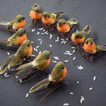 TOME Lot de 10rouges-gorges artificiels en plumes Décoration de sapin de Noël de la marque TOME image 2 produit