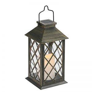 Tomshine Lanterne Solaire, LED Lampe solaire extérieure, avec Bougie LED Flamme Fire Effet ,Sans fil portable rechargeable pour Garden Patio Courtyard Outdoor [Classe énergétique A+] de la marque Tomshine image 0 produit