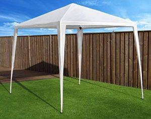 Tonnelle Pavilion Tente de réception | 270 x 270 cm (2.7 x 2.7 m) | Blanc | Sorara | 31 kg (UV 50 +) PE | cas extérieur Camping de la marque SORARA image 0 produit