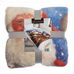 Tony's Textiles - Couverture en polaire douce - motif père Noël sur son traineau - 125 x 155cm de la marque Tony's Textiles image 2 produit