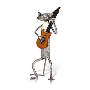 Tooarts Chat Sculpture en Métal Joue des Instruments Décoration Creative Artisanat d'Ameublement Sculpture Artisanat Créatif de la marque Tooarts image 0 produit