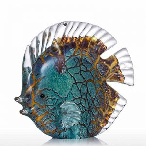 Tooarts Sculpture en Verre en Forme de Poissons Tropicaux pour Décoration de la marque Tooarts image 0 produit