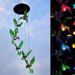 Tookie LED à suspendre lampe solaire, Changement de couleur Wind Chimes Vent Bell Fonctionne à l'énergie solaire Lumière pour maison, patio, terrasse, cour, jardin, allée Décoration de la marque Tookie image 1 produit