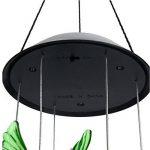 Tookie LED à suspendre lampe solaire, Changement de couleur Wind Chimes Vent Bell Fonctionne à l'énergie solaire Lumière pour maison, patio, terrasse, cour, jardin, allée Décoration de la marque Tookie image 3 produit