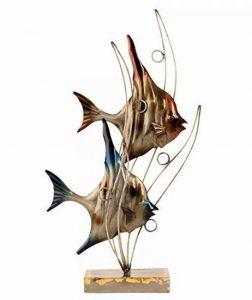 TOP DÉCO !! Sculpture POISSONS DANS LES VAGUES en MÉTAL - hauteur de 47 cm de la marque Mel-O-Design image 0 produit