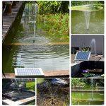 Topnma Pompe à Eau Solaire de 5W Fontaine de Jardin Solaire avec Débit Maximum 380L / H de la marque Topnma image 1 produit