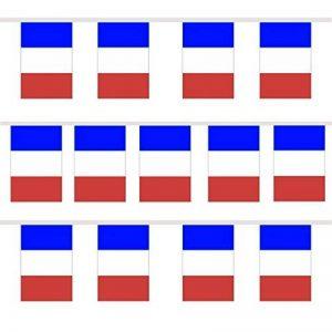 TRIXES 9M Guirlande Tricolore Française Fanions Bleu Blanc Rouge pour Célébrations Nationales Fête Nationale de la marque TRIXES image 0 produit