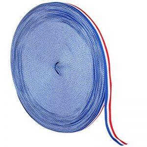 TRIXES Bobine de Ruban en Nylon Décoratif Tricolore Français de 45 m x 10 mm Bleu Blanc Rouge pour Fête Nationale Française Artisanat Bannières Patriotiques Célébrations Nationales de la marque TRIXES image 0 produit