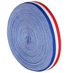 TRIXES Bobine de Ruban en Nylon Décoratif Tricolore Français de 45 m x 25 mm Bleu Blanc Rouge pour Fête Nationale Française Artisanat Bannières Patriotiques Célébrations Nationales de la marque TRIXES image 1 produit