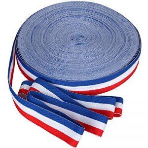 TRIXES Bobine de Ruban en Nylon Décoratif Tricolore Français de 45 m x 25 mm Bleu Blanc Rouge pour Fête Nationale Française Artisanat Bannières Patriotiques Célébrations Nationales de la marque TRIXES image 0 produit