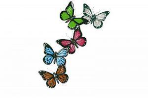 TS garde Deco Papillons, handpainted, multicolore, 24x 1x 54cm Déco Murale 137262 de la marque TS image 0 produit