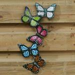 TS garde Deco Papillons, handpainted, multicolore, 24x 1x 54cm Déco Murale 137262 de la marque TS image 2 produit