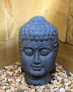 Tête de Bouddha décorative en céramique pour intérieur ou extérieur, jardin, décoration de maison de la marque Home and Garden Products image 0 produit