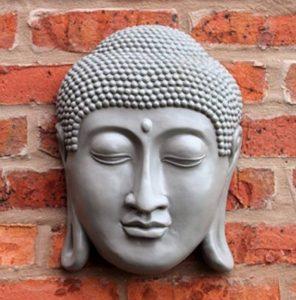 Tête de Bouddha à suspendre au mur thaï visage plaque Intérieur ou extérieur 33cm 33cm de la marque Home and Garden Products image 0 produit