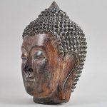 Tête de Bouddha thaï Ornement Medium Marron vintage spirituel extérieur H18cm de la marque Prezents.com image 1 produit