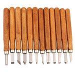 Étui unique fait main Gravure sur bois outils en bois Craft Ciseaux, couteau, à découper à la main pour poignée de Sculpture cire sculpture poterie - 12 Pieces de la marque MAIKE MALL image 1 produit