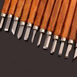 Étui unique fait main Gravure sur bois outils en bois Craft Ciseaux, couteau, à découper à la main pour poignée de Sculpture cire sculpture poterie - 12 Pieces de la marque MAIKE MALL image 3 produit